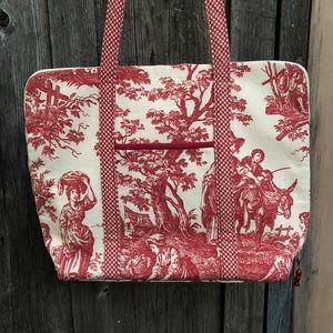 Handbags - Tapestry & Gingham Shoulder Bag / Tote
